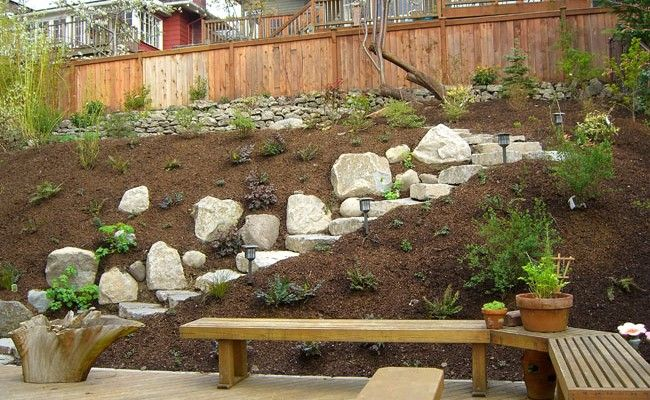 Best 25 steep hillside landscaping ideas on pinterest for Low maintenance sloping garden ideas