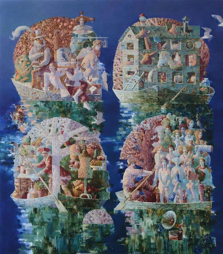 """""""Потоп (Ноевы ковчеги) / Diluvio (El arca de Noé) / Flood (Noah's Ark)"""", 200 x 180 cm."""