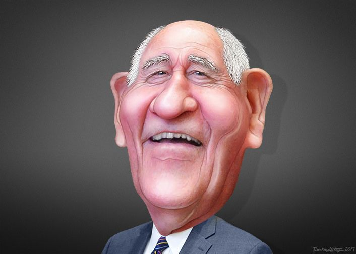 George Ervin Perdue III, aka Sonny Perdue, was the the 81st Governor of Georgia. Perdue is Donald Trump's Secretary of Agriculture. This caricature of Sonny Perdue was adapted from a photo in the public domain from the US Senate.