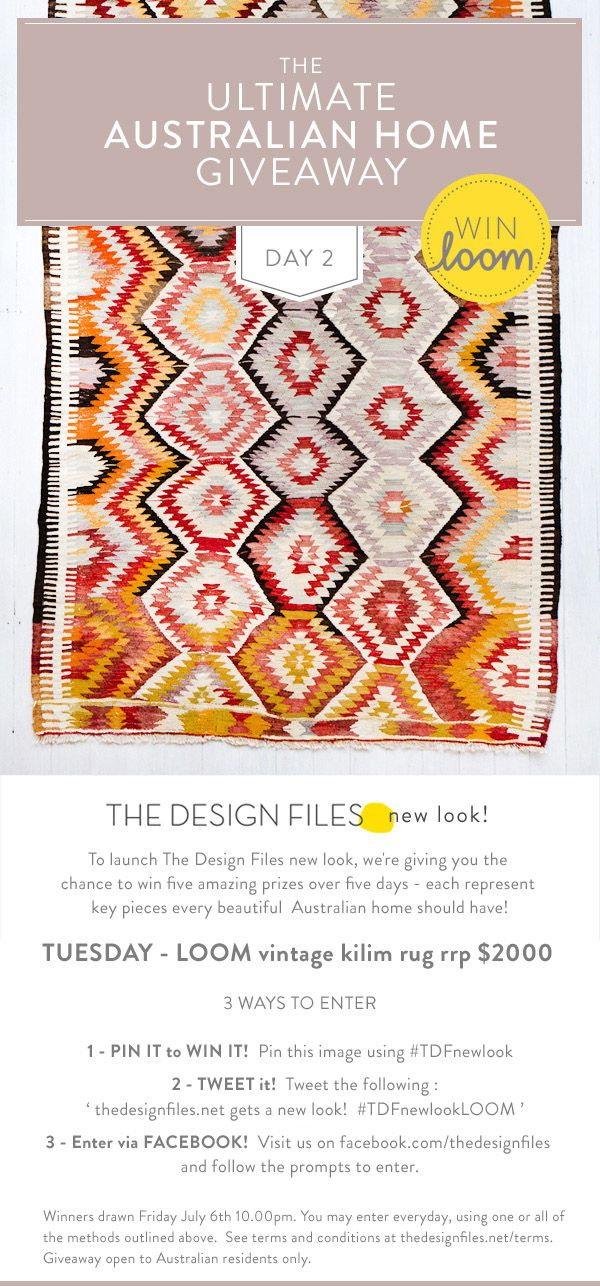 Loving this Loom rug from thedesignfiles.net gets a new look!  #TDFnewlookLOOM