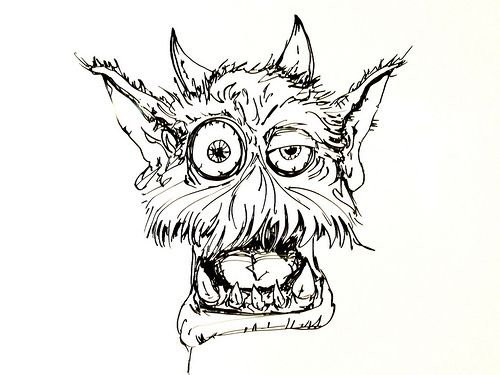 Scary Monster Drawing | Whiteboard Drawings – Comfy ...