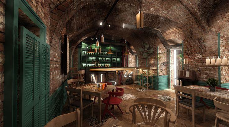 pub design/ music pub Sibiu http://yellowoffice.ro/projects/muzic-pub