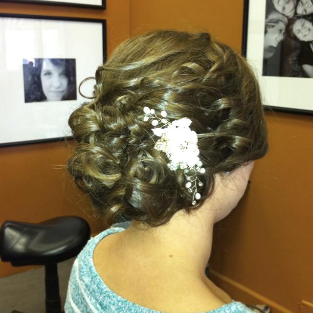 Precious wedding hair!