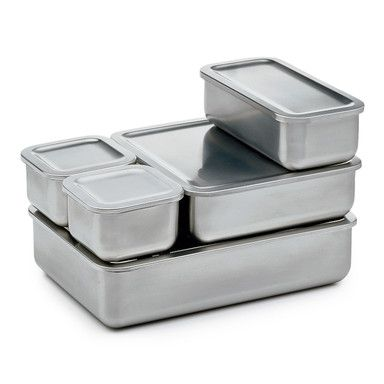 Smart Idea:  Stainless steel storage containers---toss the plastic ...once and for all