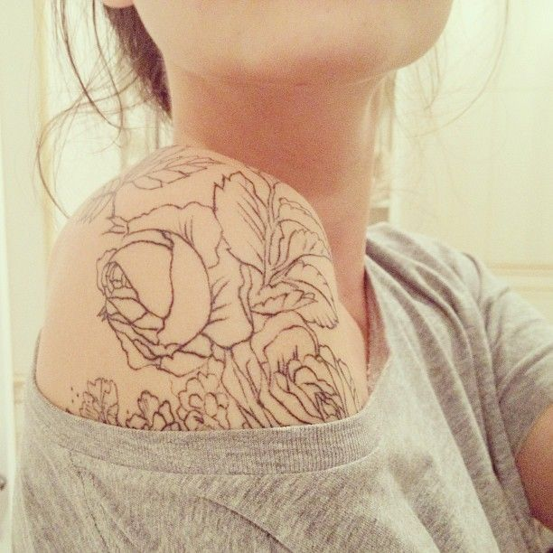 Love this tattoo and placement. Rose. Flower. Tattoo. Photo by brennerjulia