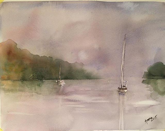 Båtar - Boats #akvarell #watercolor #watercolour #painting #art