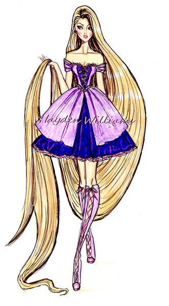 The Disney Diva's collection by Hayden Williams: Rapunzel Disney Princess. art. creative. fashion. #ForeverEileen