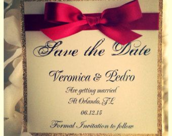 Silver Wedding Save the Dates Silver Save the Date by VPElegance