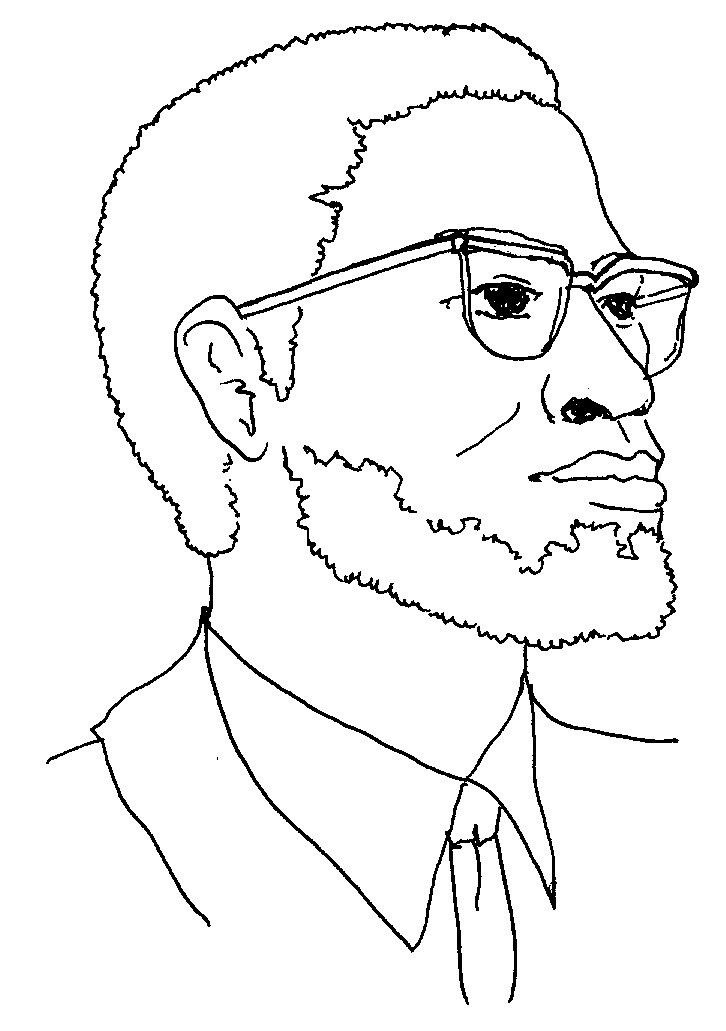 Malcolm X Coloring Pages Color Coloring Sheets