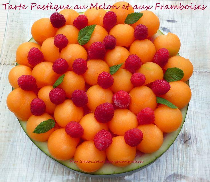 Tarte Pastèque au Melon et aux Framboises