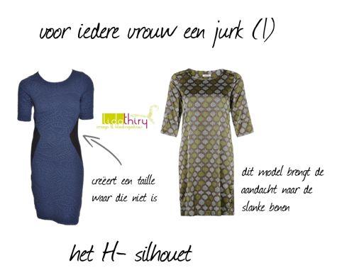 Jurken voor het H-silhouet. Klik op de foto voor meer details. www.lidathiry.nl