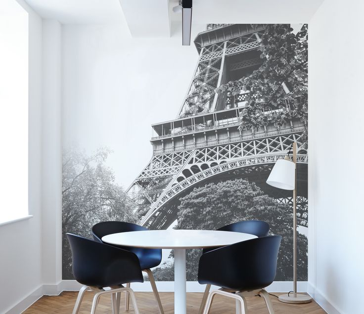 Eiffel Tower Close up Wall Mural in Black and White | #wall #mural #home #decor #wallpaper #interior #decorating