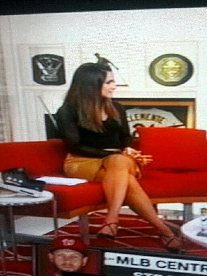 Hot Lauren Shehadi in Black Shirt And Yellow Skirt  lauren shehadi  Shirts Skirts Yellow