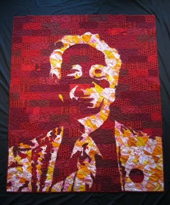 Holy freaking cow! Harvey Milk Quilt by the incredible Dan Rouse #quilt #sew #lgbt