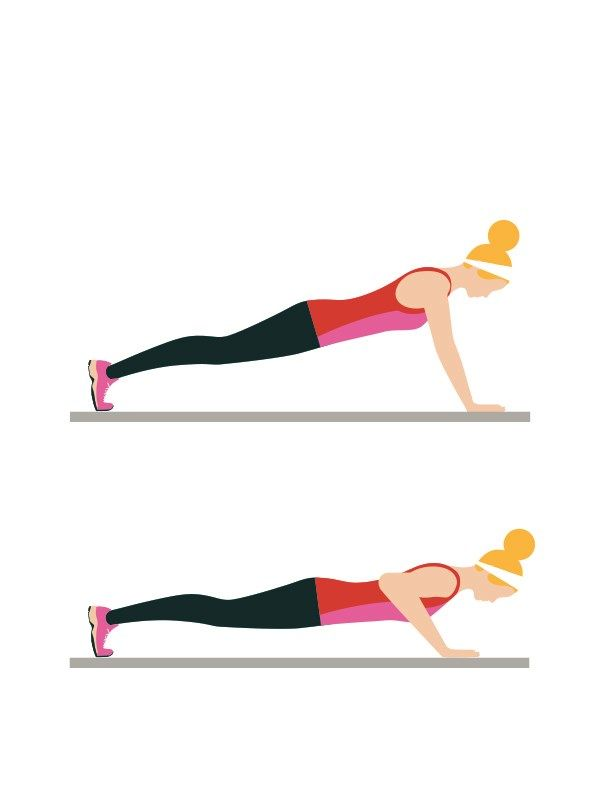 Beginner's workout circuit - Press-ups: 20 reps  Keep your hands under your shoulders, arms and back straight, with your abs braced, legs extended behind you. Lower your body, keeping your elbows close to your sides. Push back up. Keep your back straight throughout. Click to read the full workout on You & Your Wedding's website.