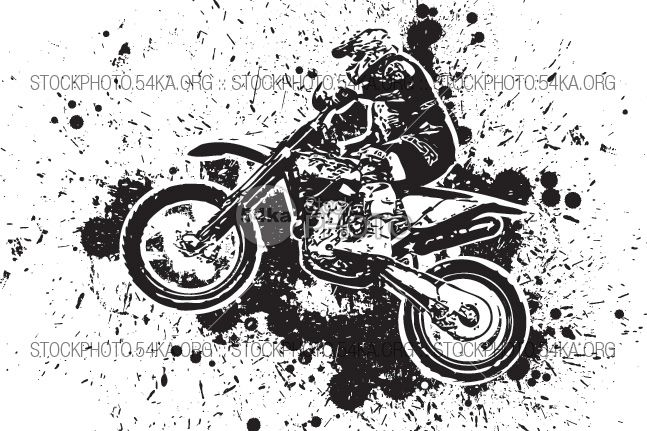 Enduro Offroad Motocross Vector Graphic Illustration