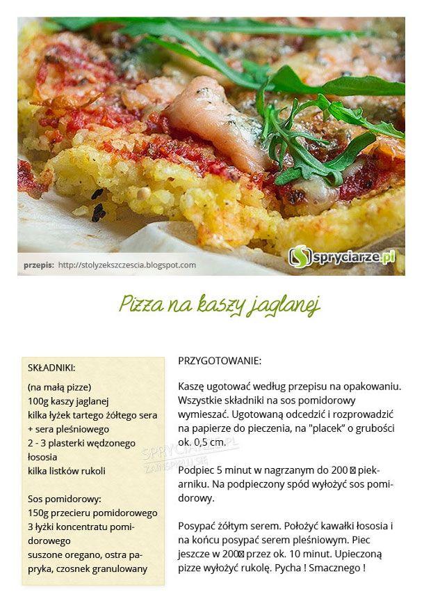 Przepis na pizzę na kaszy jaglanej