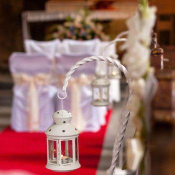 dekoracja kościoła  lampiony