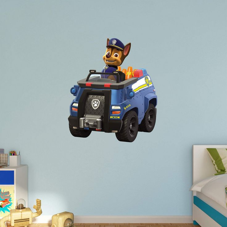 Fathead PAW Patrol Chases Police Truck Wall Decal - 18-00073