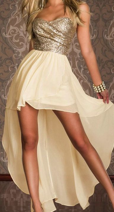 Homecoming Dress,High Low Homecoming Dresses,Chiffon Homecoming Gowns,Strapless…