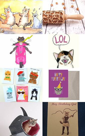 funny cats by Stuart McWilliam on Etsy--Pinned with TreasuryPin.com