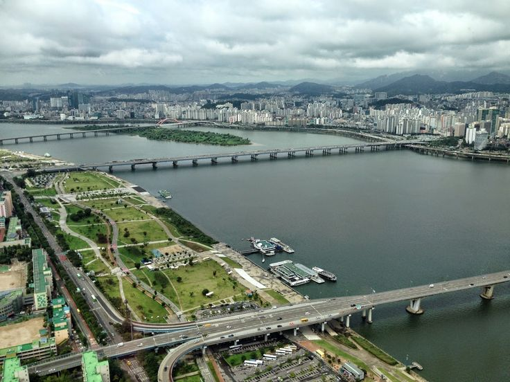 See the Han River from The 63 Building in Seoul