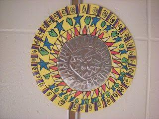 Wat gebeurt er in de Art Room ??: 3rd Grade Mexicaanse volkskunst Spiegels