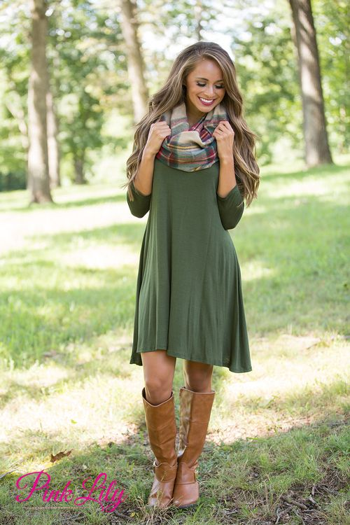 This versatile and sweet dress is simply the best addition to your fall wardrobe!