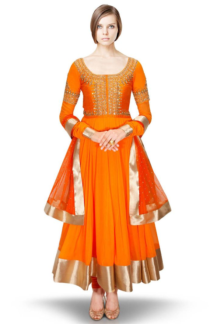 #Anarkali Suit in #Orange