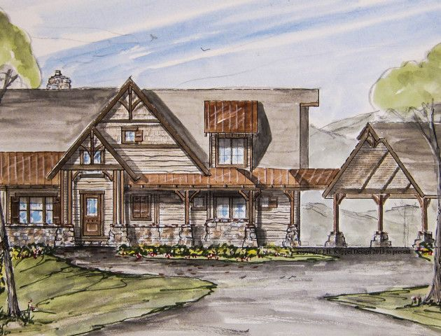 17 best ideas about rustic home plans on pinterest for Cottage house plans with porte cochere