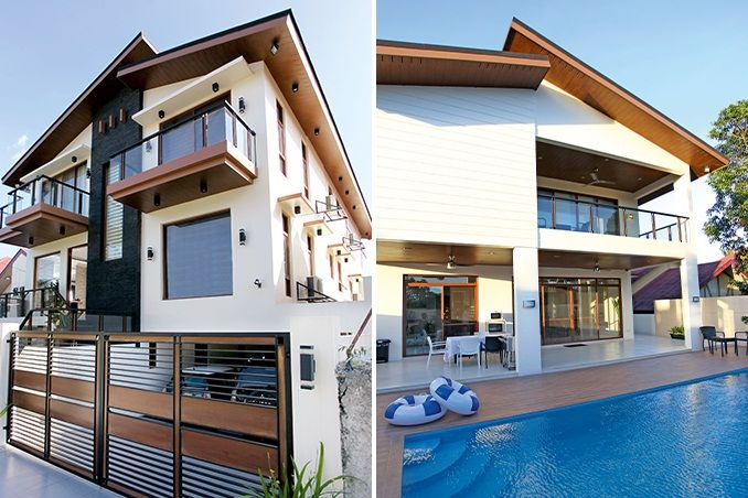 Modern contemporary style defines the three-storey, four-bedroom house of the Eat Bulaga! co-host