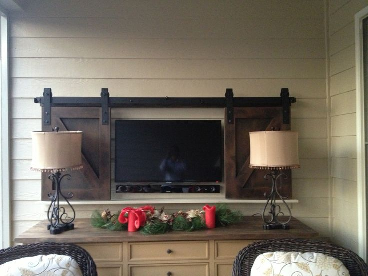 17 Best Wall Mounted Tv Barn Doors Images On Pinterest