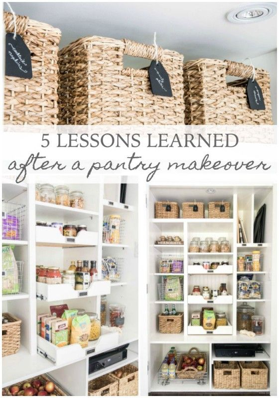 Give your pantry a DIY makeover, and use this impressive pantry makeover as your guide. This homeowner learned five important organizing lessons, and she's sharing all her ideas and tips for working with a small space or pantry.