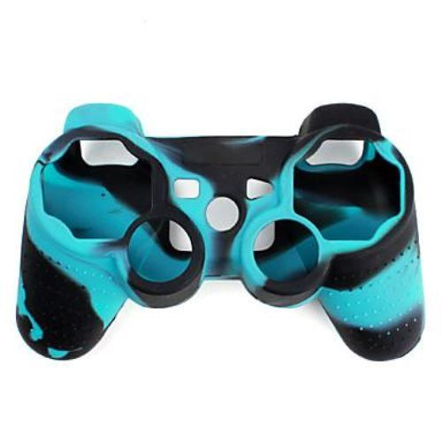 us 229 protective dual color silicone case for ps3 controllerblue - Manette Ps3 Color