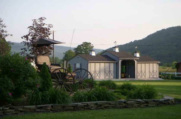 17 best ideas about pole barns for sale on pinterest for Amish built pole barn houses