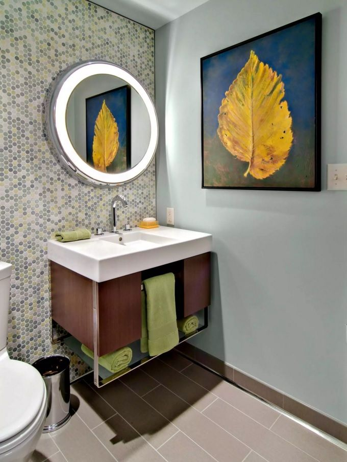 Image On Nice bined under sink piece of furniture with opened towel storage