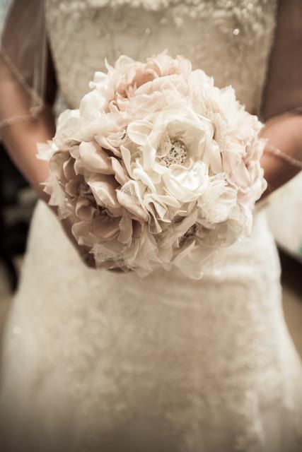 Wedding Bouquet Vintage Inspired Fabric Flower By Theraggedyrose
