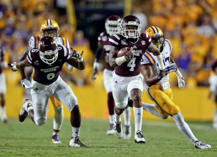 Mississippi State racks up 570 yds as they beat No. 8 LSU 34-29! It's the most yards allowed by a Les Miles LSU team