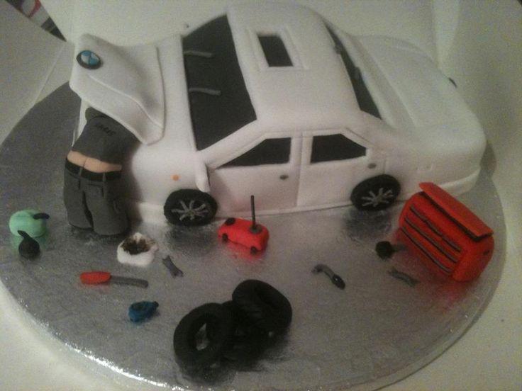 Best  Mechanic Cake Ideas On Pinterest Sculpted Cakes Tool - Car engine birthday cake