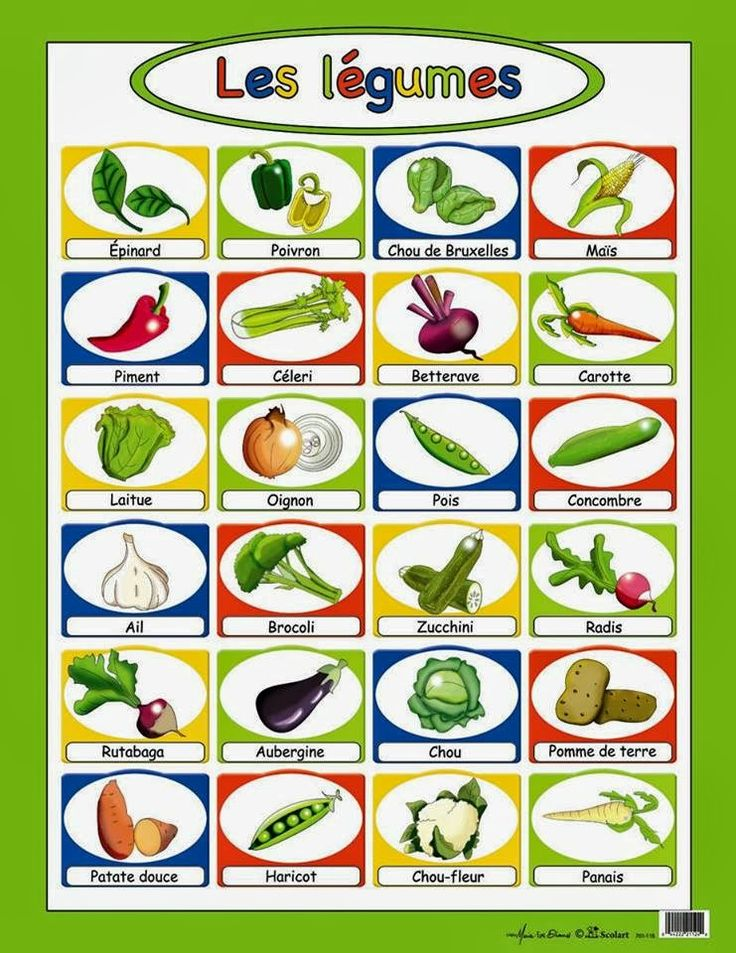 Top 13 best Les fruits et les légumes en français images on Pinterest  GU35