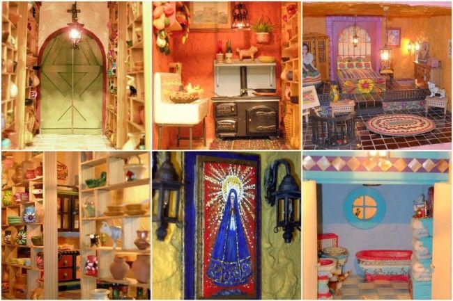 Casa Maria - Mexican Hacienda Doll House  -                                                    Interior