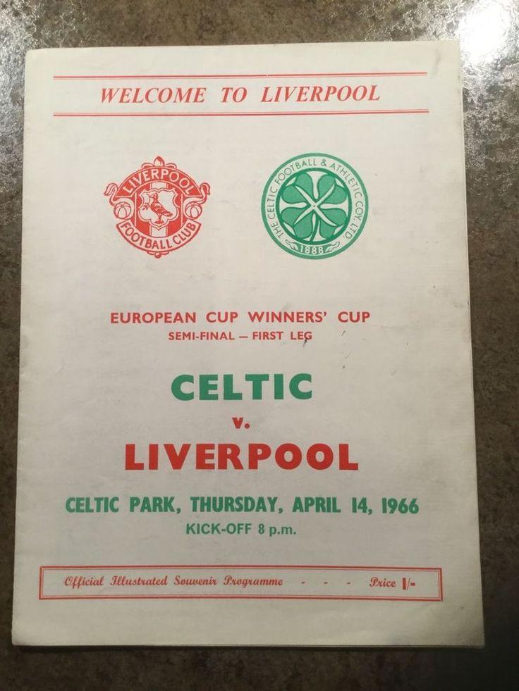 Celtic v Liverpool European Cup Winners' Cup Semi-Final 1966 match programme