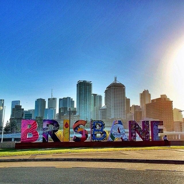The Brisbane sign at early morning Image by @donaldlim #thisisqueensland