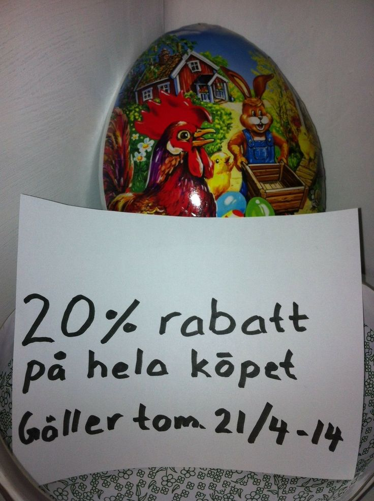 1111 VECKANS PÅSKÄGG (gäller tom 21/4-2014) via Stile. Click on the image to see more!