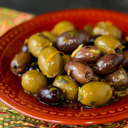 Herb and Citrus Olives