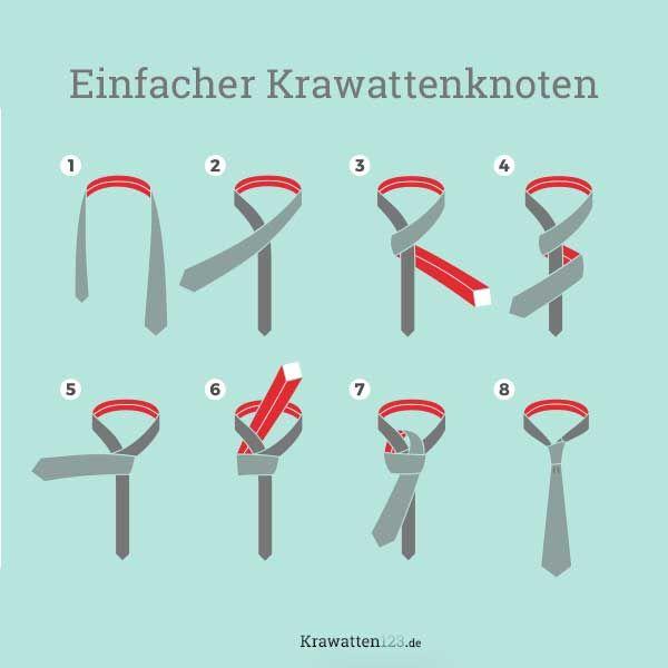Einfacher Krawattenknoten Krawattenknoten Krawatte Binden Einfach Krawatten Knoten