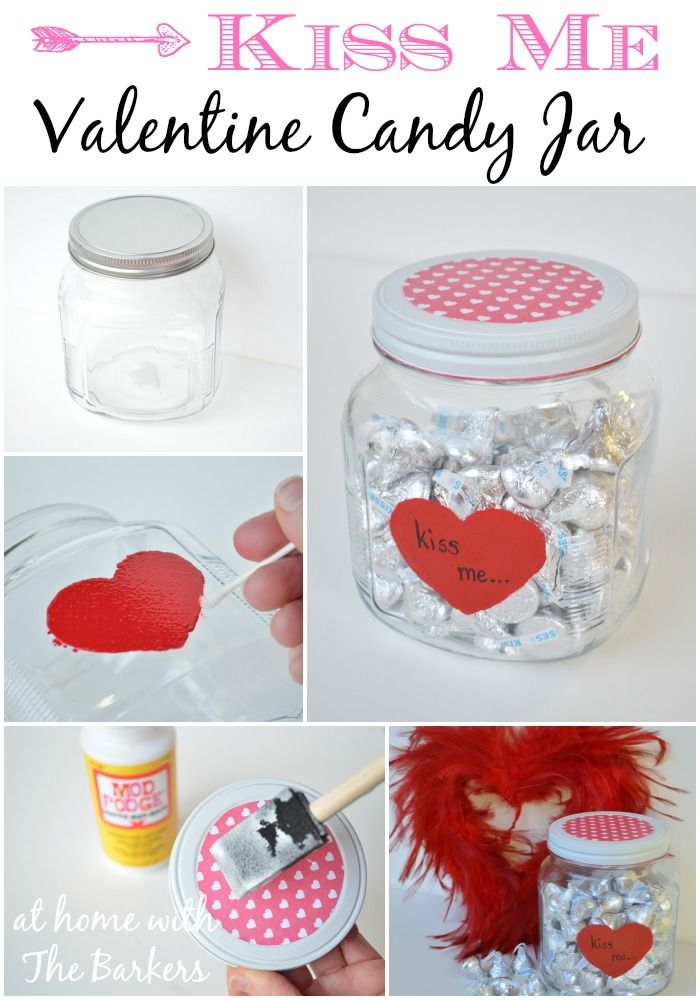 How to make your own Valentine Candy Jar! Easy and Homemade fun! #ValentinesDay