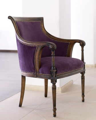 Best 25 purple chair ideas on pinterest for Traditional armchairs for living room