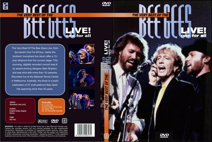 Full DVD de Bee Gees Live One For All