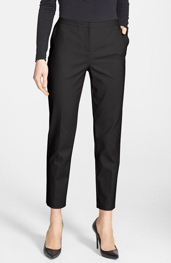 the perfect staple ankle dress pants for your work wardrobe that come in black, taupe, and a cute print {40% now during Nordstrom's Half Yearly Sale!!}